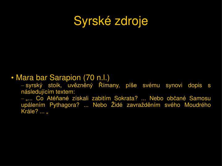 Mara bar Sarapion (70 n.l.)