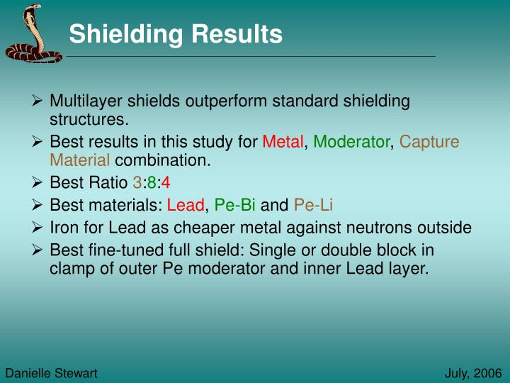 Shielding Results
