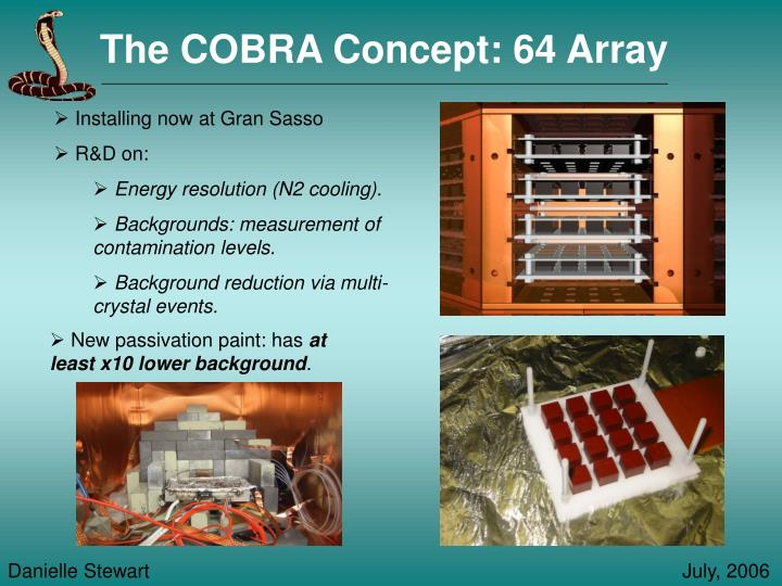 The COBRA Concept: 64 Array