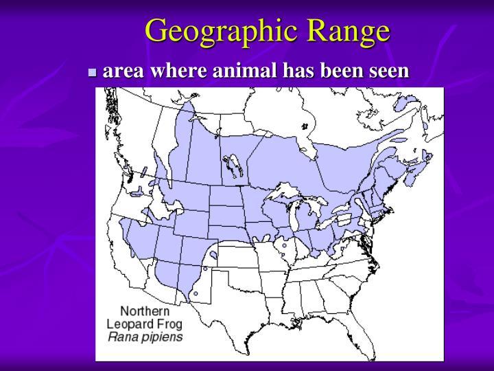 Geographic Range