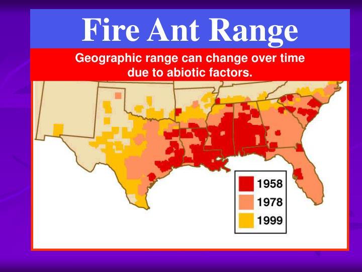 Fire Ant Range