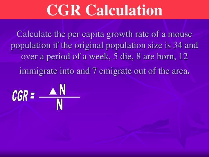 CGR Calculation