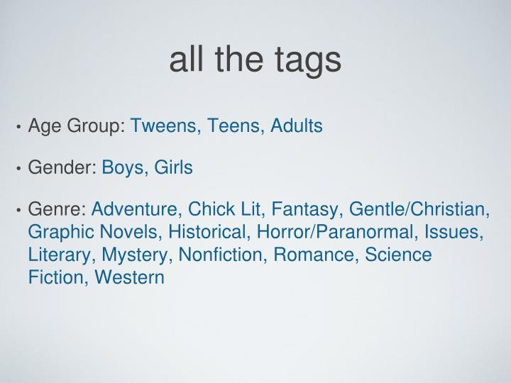 all the tags