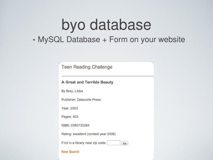 byo database