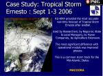 case study tropical storm ernesto sept 1 3 2006