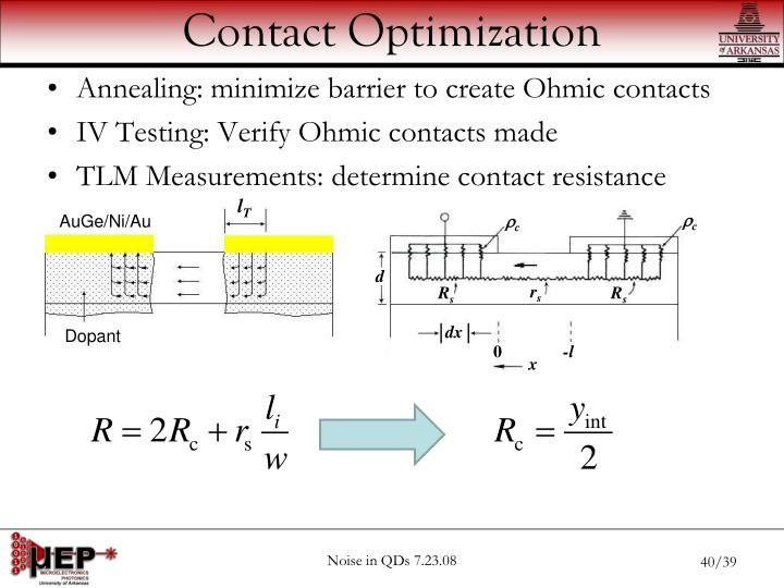 Contact Optimization