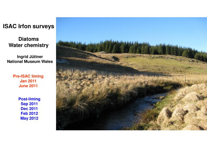 ISAC Irfon surveys