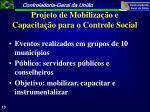 projeto de mobiliza o e capacita o para o controle social