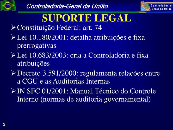 Constituição Federal: art. 74
