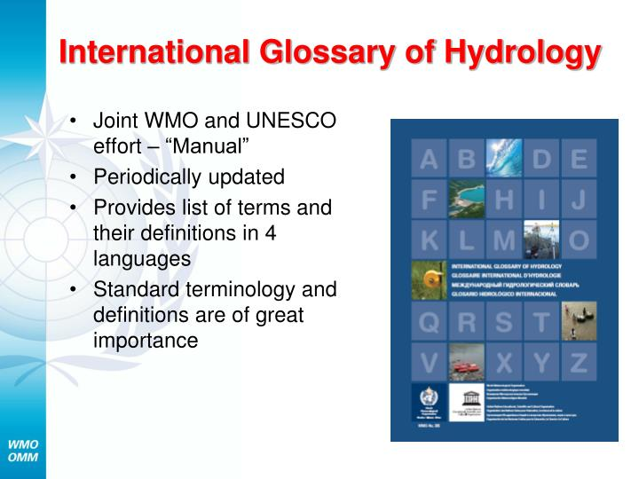 International Glossary of Hydrology