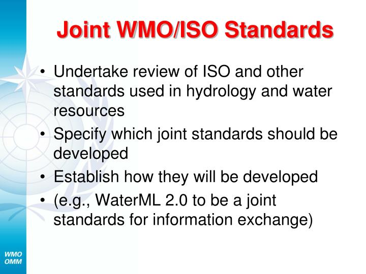 Joint WMO/ISO Standards