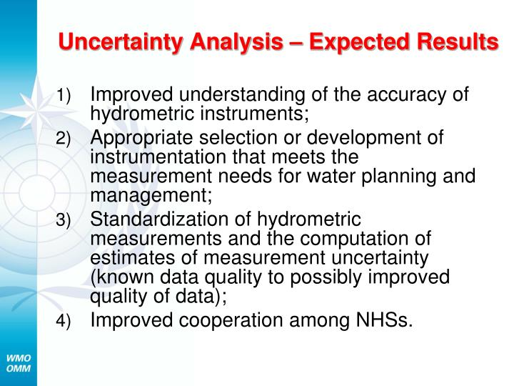 Uncertainty Analysis – Expected Results