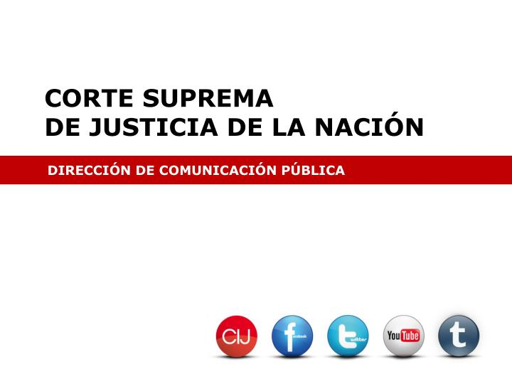 corte suprema de justicia de la naci n