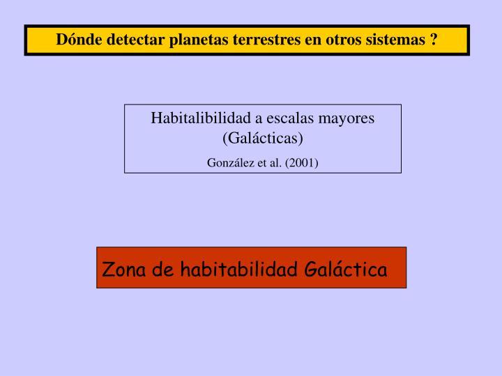 Dónde detectar planetas terrestres en otros sistemas ?