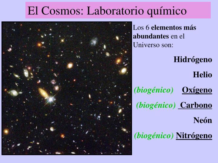 El Cosmos: Laboratorio químico