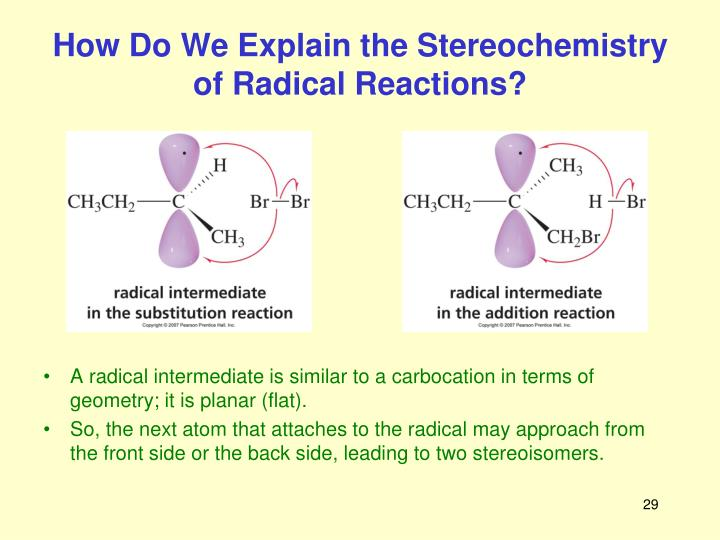 How Do We Explain the Stereochemistry of Radical Reactions?