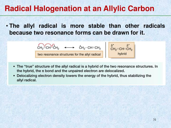 Radical Halogenation at an Allylic Carbon