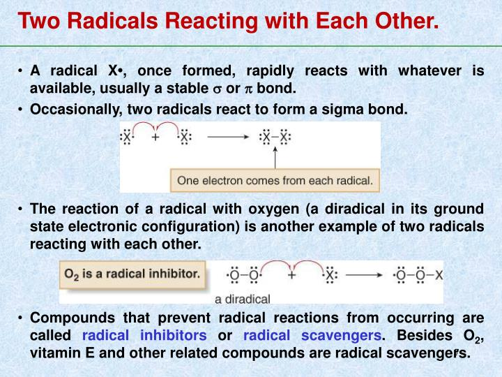 Two Radicals Reacting with Each Other.