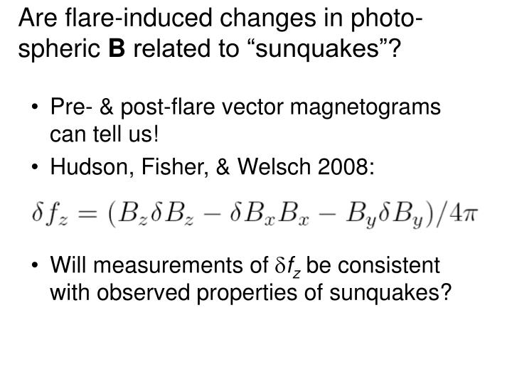 Are flare-induced changes in photo-spheric