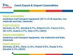 czech export import commodities