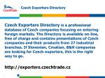 czech exporters directory