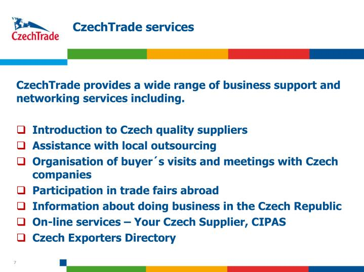 CzechTrade services
