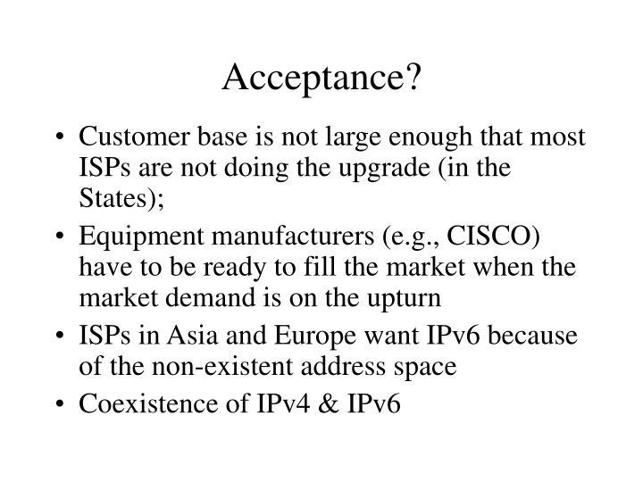 Acceptance?