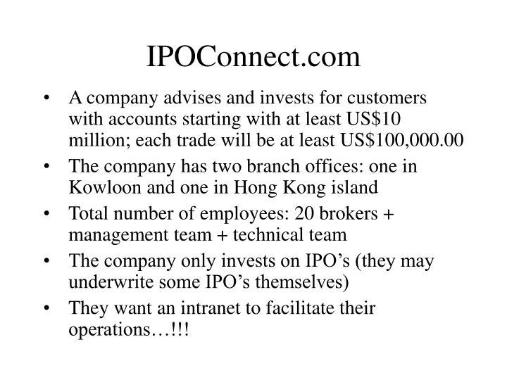 IPOConnect.com