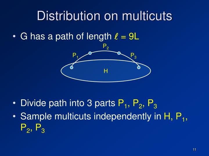 Distribution on multicuts