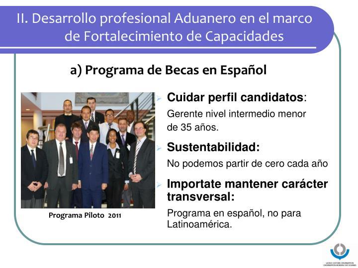 II. Desarrollo profesional Aduanero en el marco