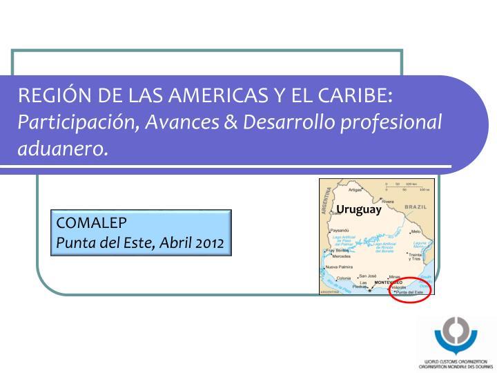 REGIÓN DE LAS AMERICAS Y EL CARIBE: