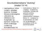 grunduddannelsens slutning modul 13 14