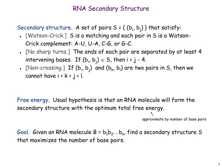 Rna secondary structure1