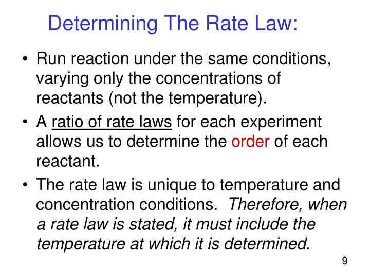 Determining The Rate Law: