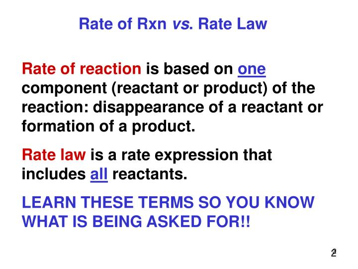 Rate of Rxn