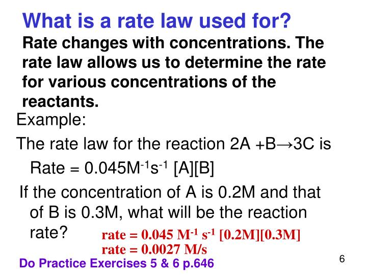 What is a rate law used for?