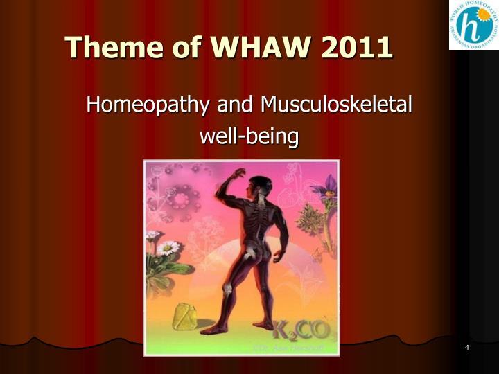 Theme of WHAW 2011