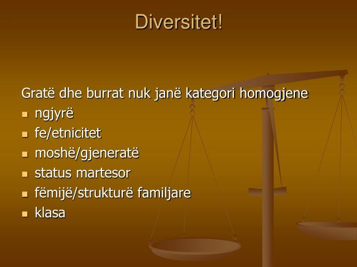 Diversitet!