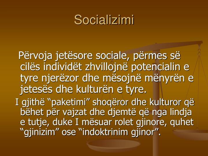 Socializimi