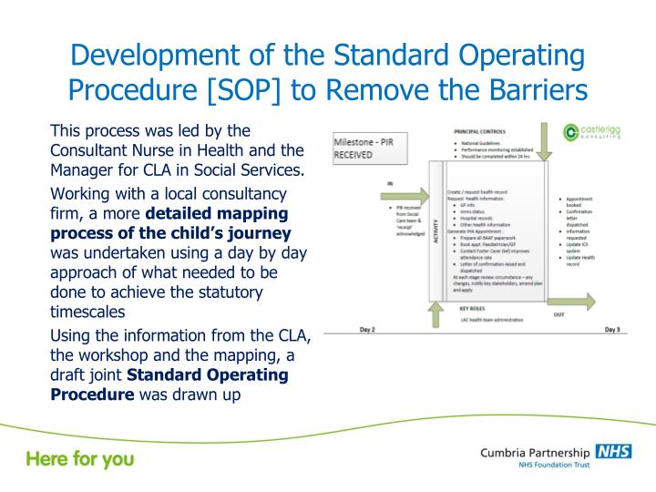 Development of the Standard Operating