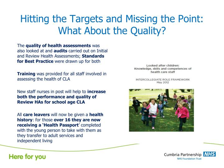 Hitting the Targets and Missing the Point: What About the Quality?