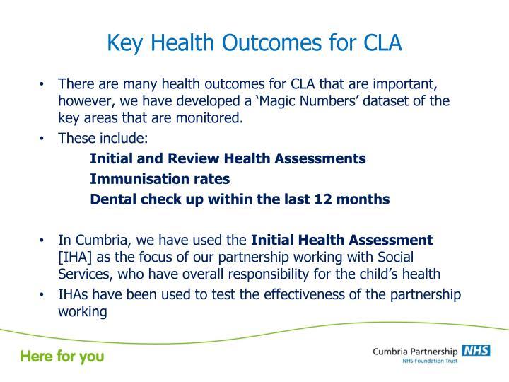 Key Health Outcomes for CLA