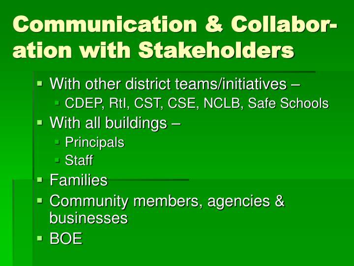 Communication & Collabor-