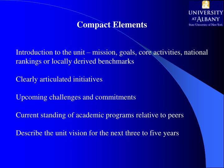 Compact Elements