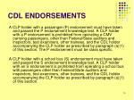 cdl endorsements