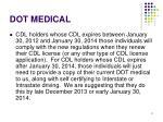 dot medical1