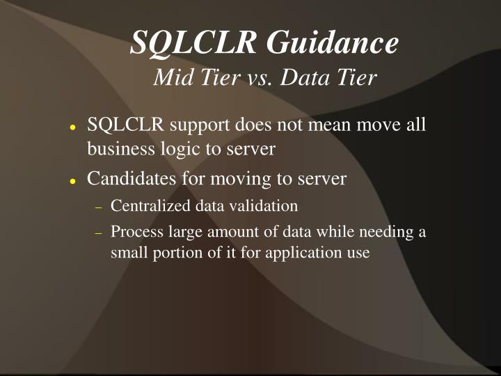 SQLCLR Guidance