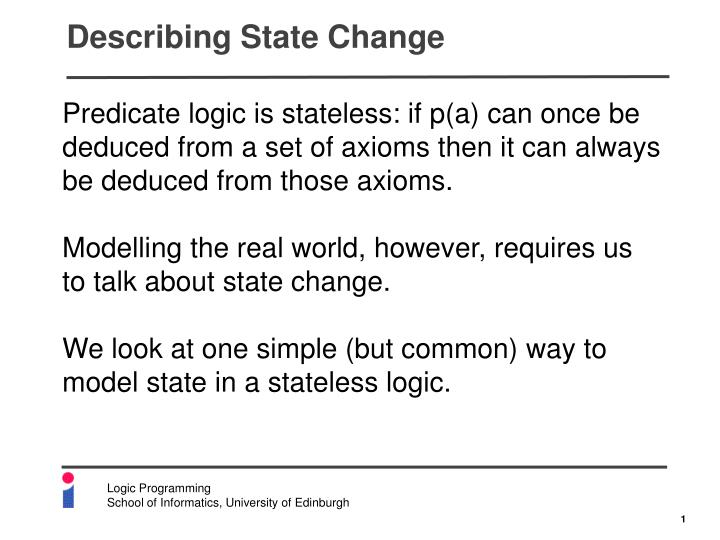 Describing state change