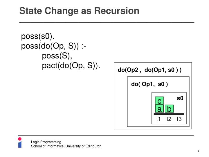 State Change as Recursion