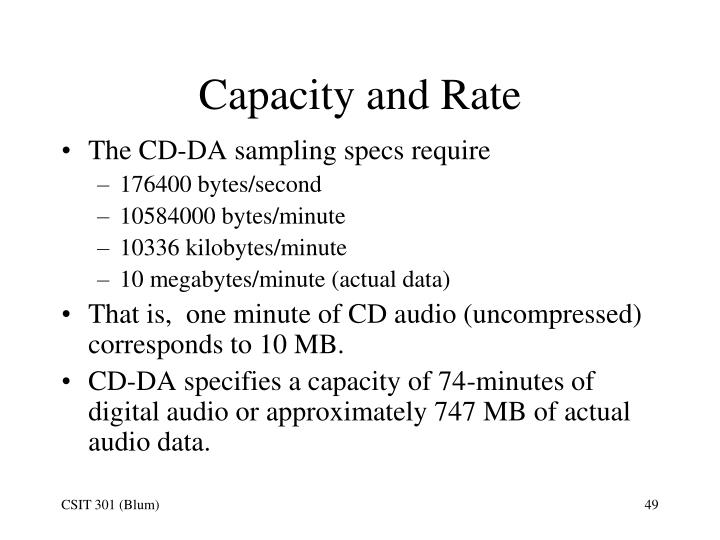 Capacity and Rate